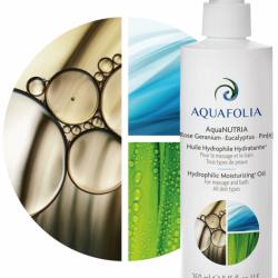 AquaNUTRIA huile hydrophile hydratante rose géranium encaliptus pin